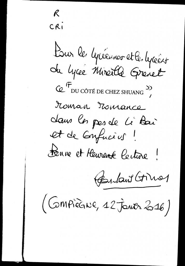 Dédicace Jean-Louis CrimonCRIMON